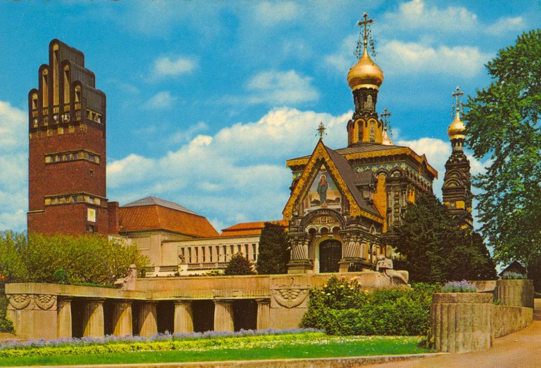 Darmstadt '65 Russische Kapelle und Hochzeitsturn